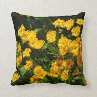 Sunburst Sunflowers (Coreopsis) Pillow