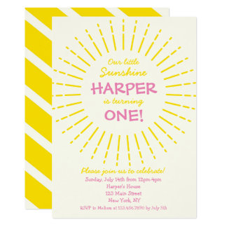 Sunburst Sunshine Birthday Party Card