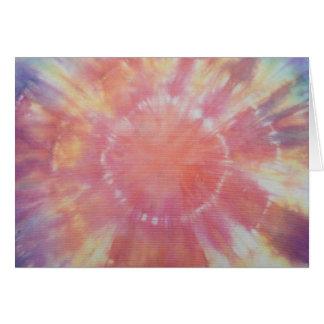 Sunburst Tie Dye warm I Card