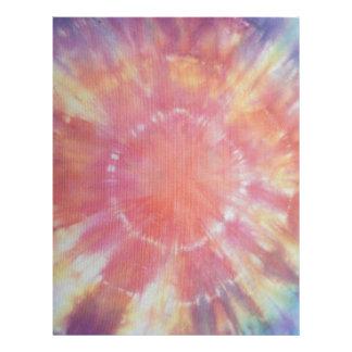 Sunburst Tie Dye warm I Letterhead