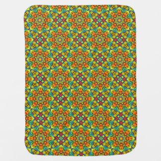 Sunburst  Tiled Design Baby Blankets