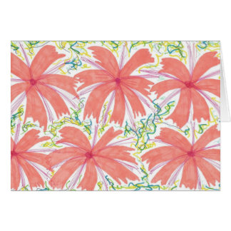Sunburst Tropical Flower Pattern Card
