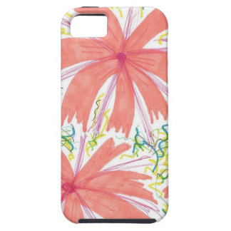 Sunburst Tropical Flower Pattern iPhone 5 Covers
