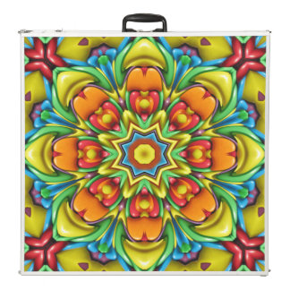 "Sunburst   Vintage Kaleidoscope 96""  Pong Table"