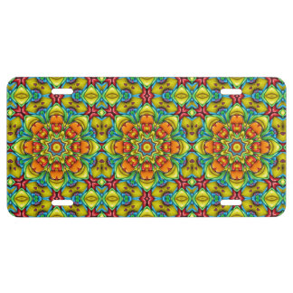 Sunburst  Vintage Kaleidoscope    License Plates