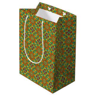 Sunburst Vintage Kaleidoscope Medium Gift Bag