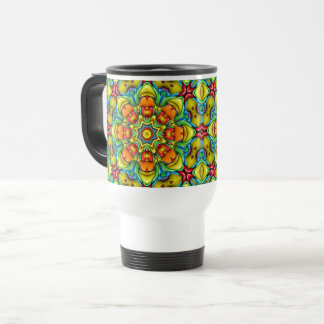 Sunburst Vintage Kaleidoscope   Travel Mug