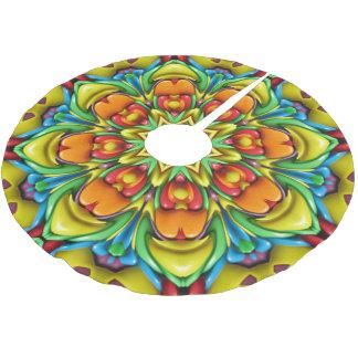 Sunburst Vintage Kaleidoscope Tree Skirt