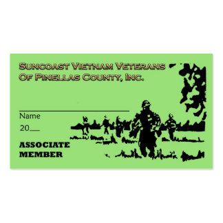 Suncoast Vietnam Veterans Assoc Mbr Card Business Card
