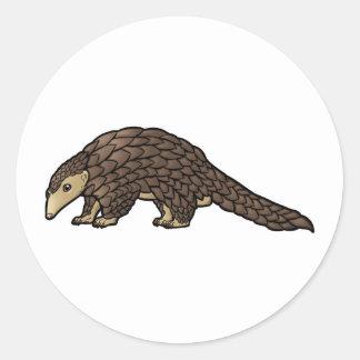 Sunda Pangolin Round Sticker