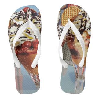 Sundae adult custom wide strap flip flops