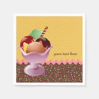 Sundae * choose background color paper napkin