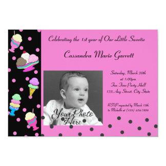 Sundae Shoppe/ Photo Birthday Card