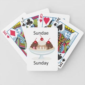 sundae sunday bicycle playing cards