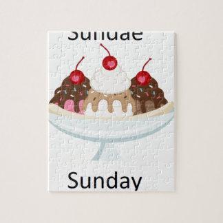 sundae sunday jigsaw puzzle