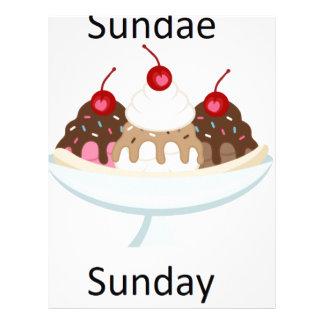 sundae sunday letterhead