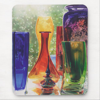 """""""Sundance"""" Art Glass Watercolor Painting Mouse Pad"""