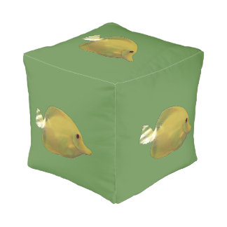 Sundance Yellow Fish Pouf