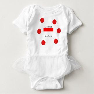 Sundanese Language And Indonesia Flag Design Baby Bodysuit