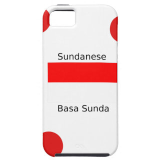 Sundanese Language And Indonesia Flag Design Case For The iPhone 5