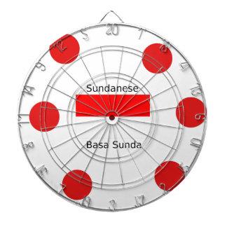 Sundanese Language And Indonesia Flag Design Dartboard