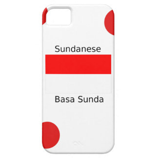 Sundanese Language And Indonesia Flag Design iPhone 5 Case