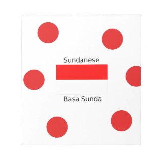 Sundanese Language And Indonesia Flag Design Notepad