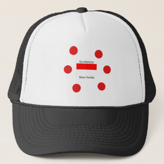 Sundanese Language And Indonesia Flag Design Trucker Hat