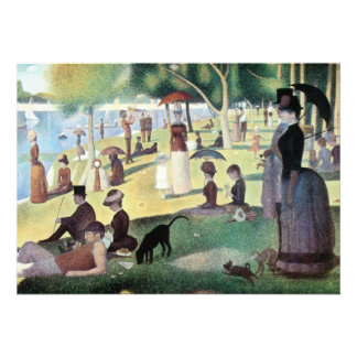 Sunday Afternoon, Island La Grande Jatte by Seurat Personalized Invites