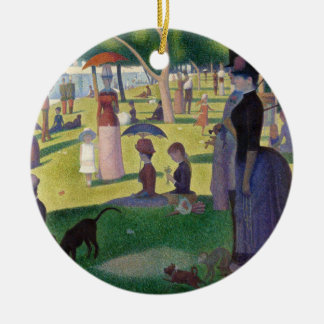 Sunday Afternoon on the Island of La Grande Jatte Ceramic Ornament