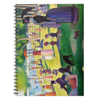 Sunday Afternoon On The Island Of La Grande Jatte Notebook
