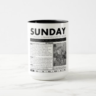 SUNDAY AND THE MYTH BEHIND IT:  one of seven cups