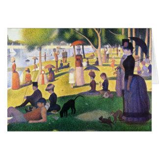 Sunday at La Grande Jatte by Georges Seurat Card