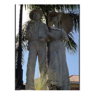 Sunday Best Statue Bradenton Florida Postcard