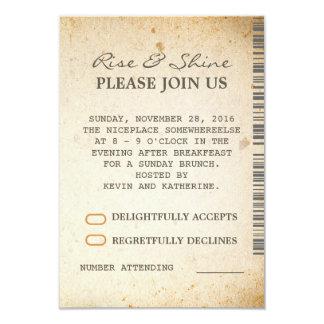 Sunday Brunch Additional Wedding RSVP Cards