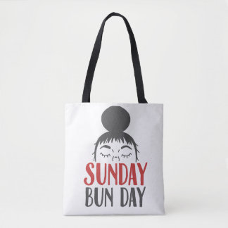 Sunday Bun Day Lazy Mom Tote