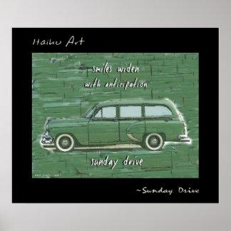 Sunday Drive Haiku Art Print