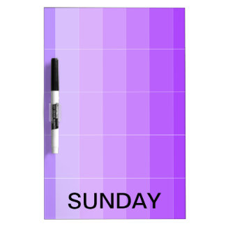 Sunday Dry Erase Board Calendar Tools 2
