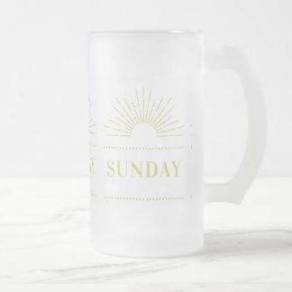 Sunday Frosted Glass Beer Mug