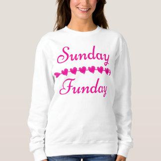 Sunday Funday Cute Funny Pink Heart Sweater/ Sweatshirt