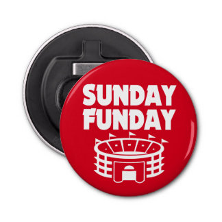 Sunday Funday Football Bottle Opener Red
