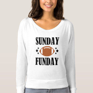 Sunday Funday women's funny football shirt