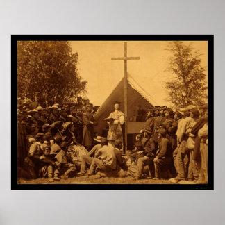 Sunday Morning Catholic Mass 1861 Poster