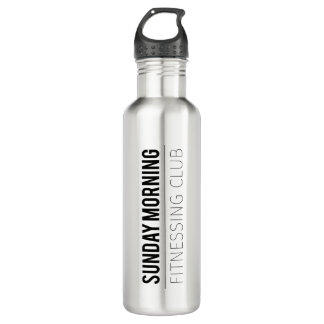 Sunday Morning Fitnessing Club 24 oz. Water Bottle