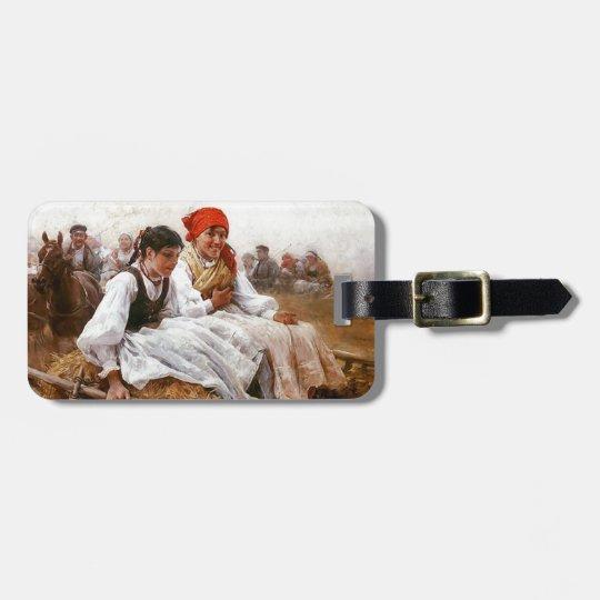 Sunday Morning ~ Polish ~ Niedzielny poranek  1900 Luggage Tag