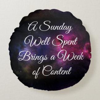 Sunday Round Pillow