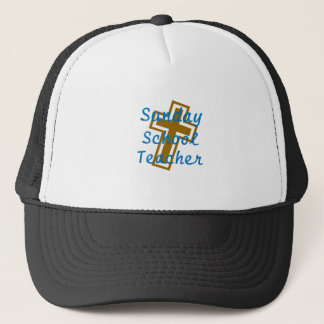 SUNDAY SCHOOL TEACHER CIR LT TRUCKER HAT