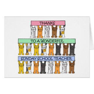 Sunday school teacher thanks card