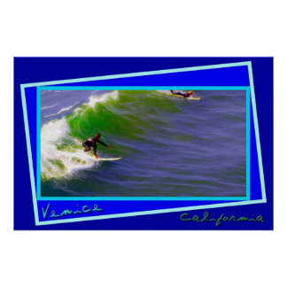 Sunday Surfers in Venice California Poster