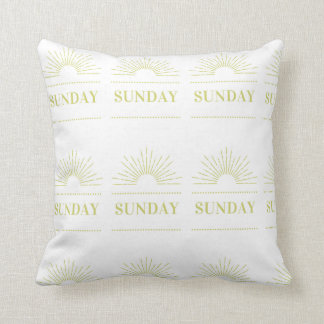Sunday Throw Pillow